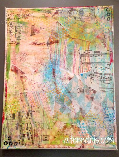 mixed media art background